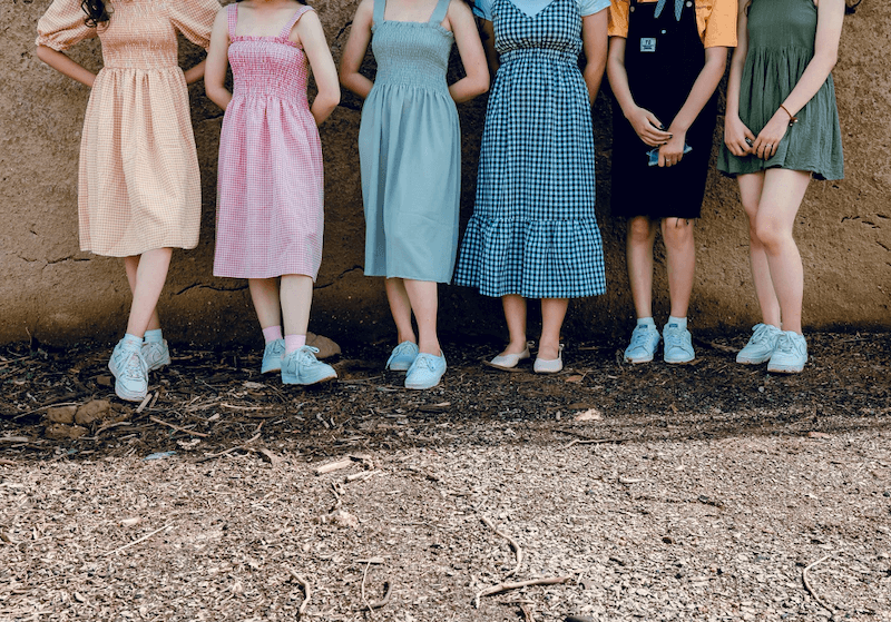 girls standing in line